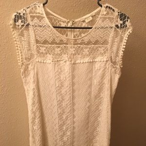 Ariat M white lace dress